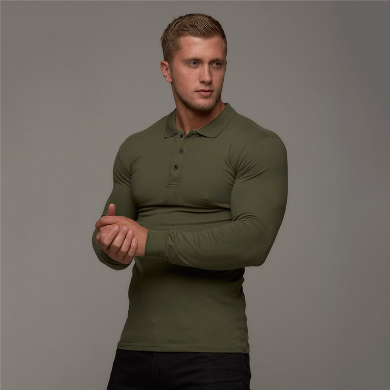 Polo Long Sleeve-Tops-Be More Fitness® Ltd-Be More Fitness® Ltd