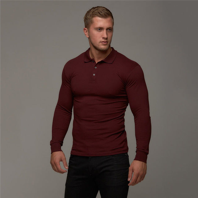 Polo Long Sleeve-Tops-Be More Fitness® Ltd-Burgundy-XS-Be More Fitness® Ltd
