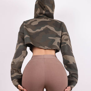 Camo Cropped Hoodie-hoodie-Be More Fitness® Ltd-Be More Fitness® Ltd