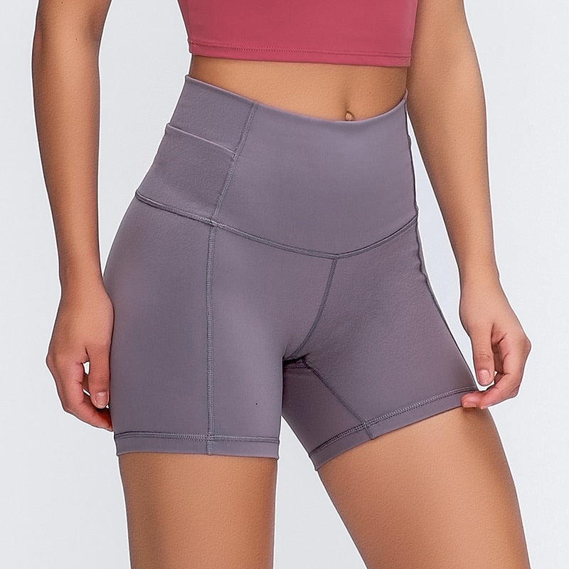 High Waist Slim Fit Shorts
