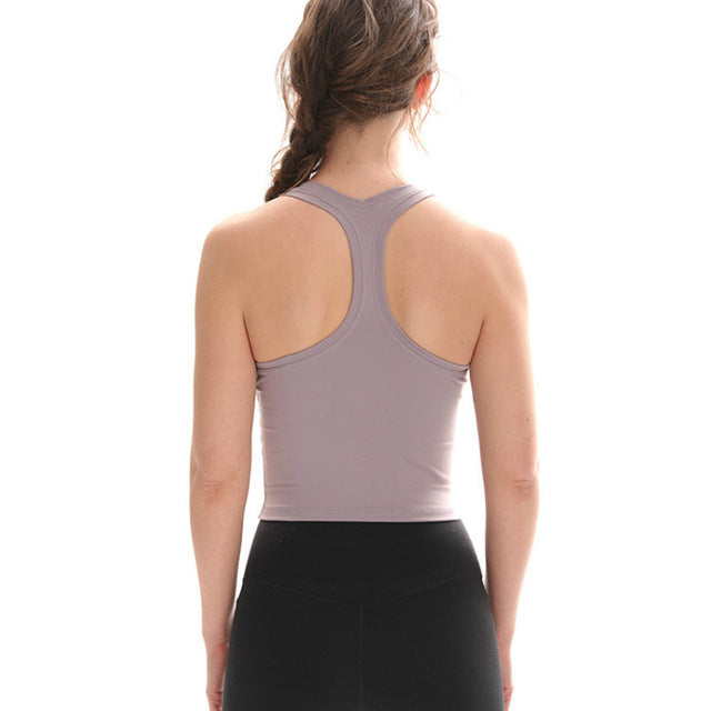 Breeze Tank Crop Top-Tank Top-Be More Fitness® Ltd-Grey Dawn-L-Be More Fitness® Ltd