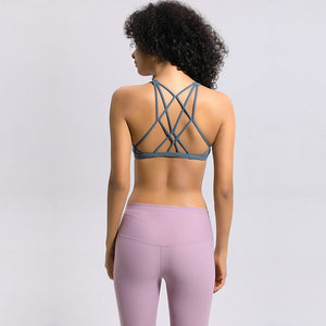 Breeze Cross Sports Bra-Sports Bra-Be More Fitness® Ltd-Mysterious Green-XS-Be More Fitness® Ltd
