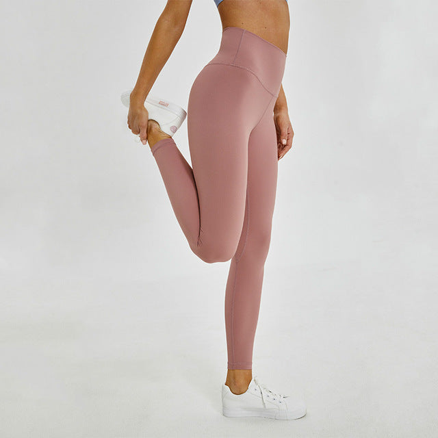 Breeze Stretch High waist Leggings-Leggings-Be More Fitness® Ltd-Meili Powder-XS-Be More Fitness® Ltd