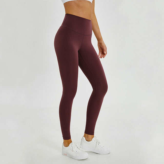 Breeze Stretch High waist Leggings-Leggings-Be More Fitness® Ltd-Dark Purple-XS-Be More Fitness® Ltd