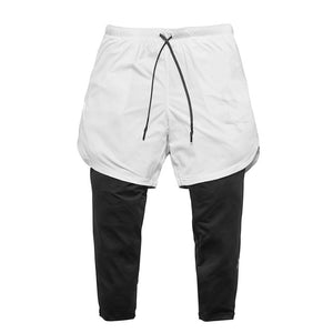 Utility Legging Shorts-Shorts-Be More Fitness® Ltd-White-S-Be More Fitness® Ltd