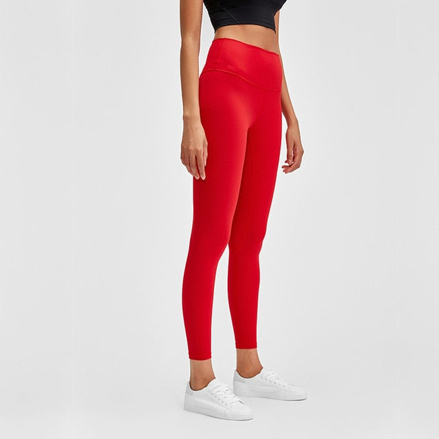 Breeze Stretch High waist Leggings-Leggings-Be More Fitness® Ltd-Vermillion-S-Be More Fitness® Ltd