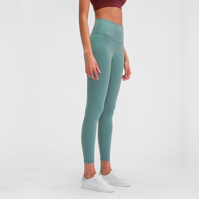 Breeze Stretch High waist Leggings-Leggings-Be More Fitness® Ltd-Bean green-L-Be More Fitness® Ltd