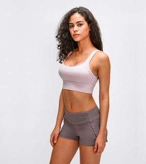 Breeze Cross Crop Bra-Sports Bra-Be More Fitness® Ltd-Be More Fitness® Ltd