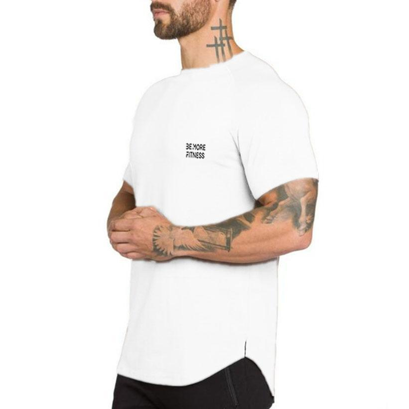 Scoop Bottom Fitted T-Shirt-T-Shirt-Be More Fitness® Ltd-Be More Fitness® Ltd