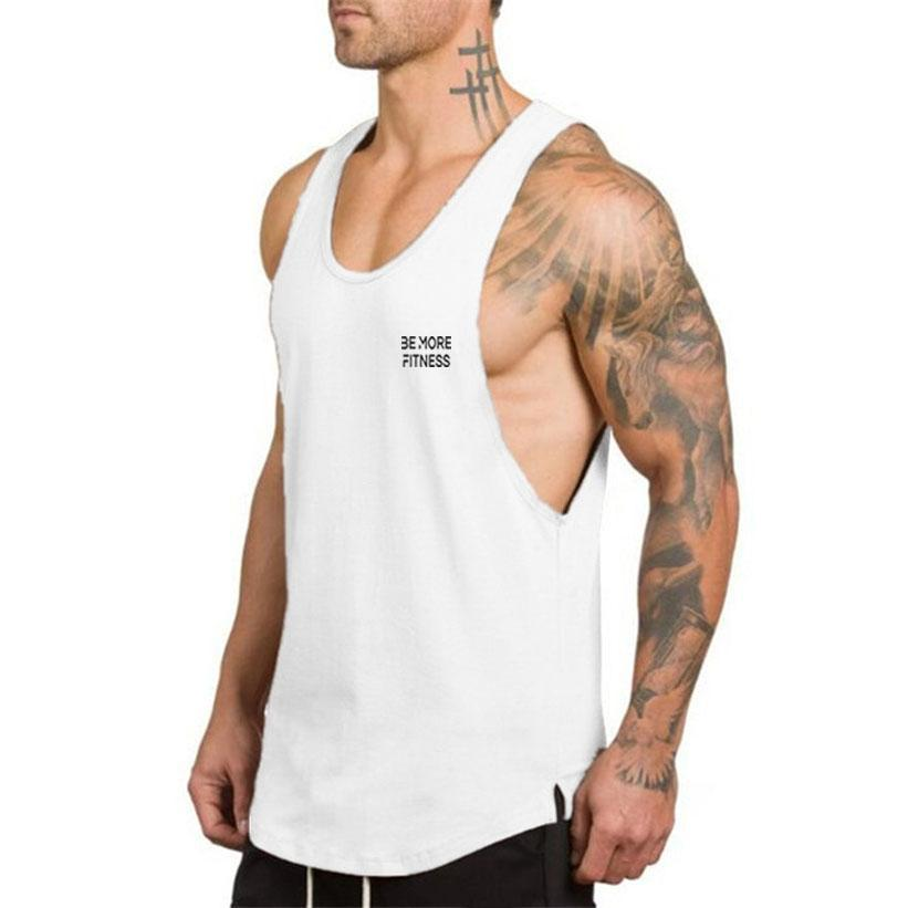 Scoop Bottom Cut Out Vest-Tank Top-Be More Fitness® Ltd-Be More Fitness® Ltd