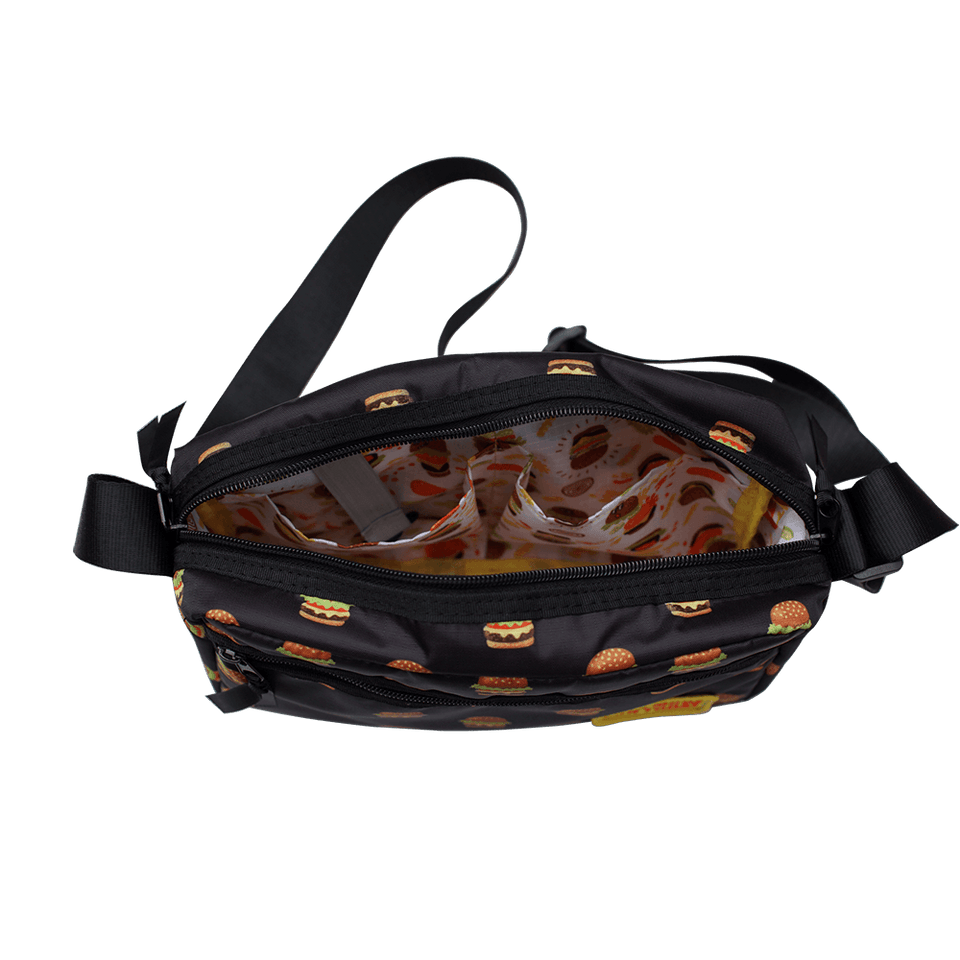 PE Shoulder Bag / Hamburger Black