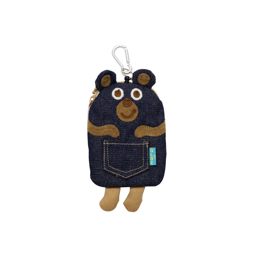 Pass Card Case / Denim Bear (Zipper pocket)