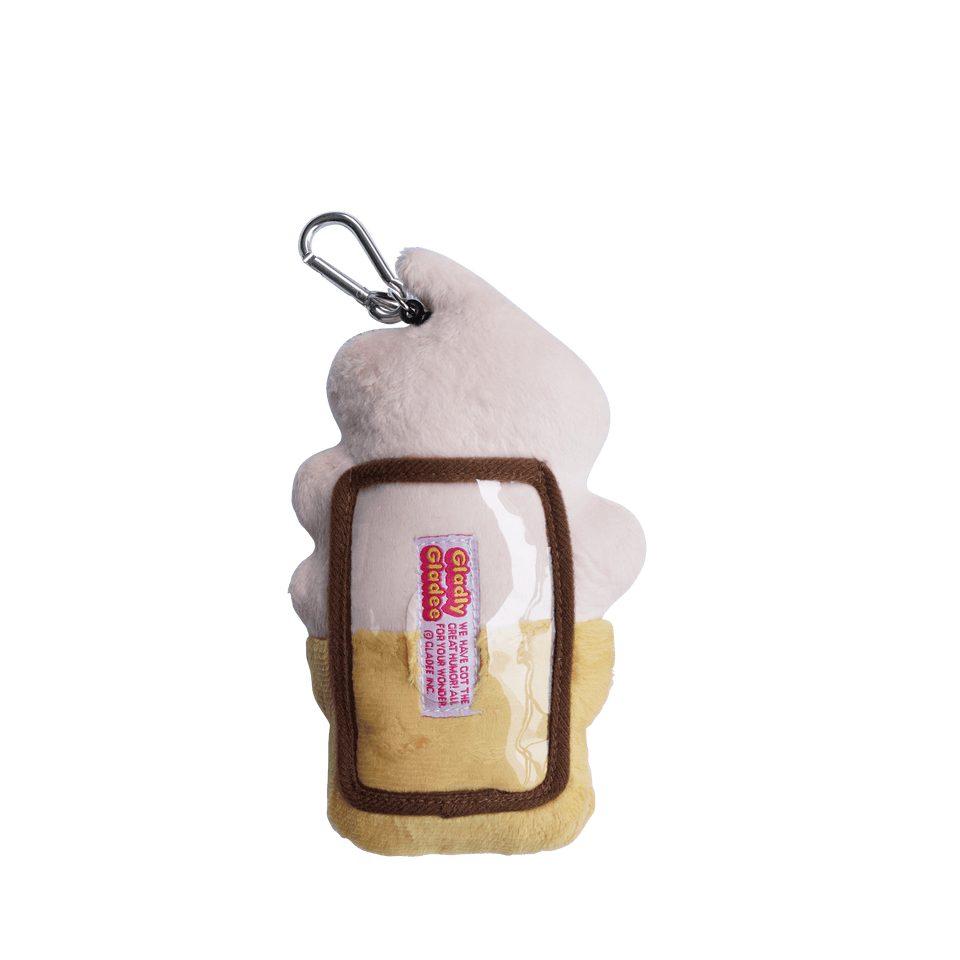 Pass Card Case / Soft Serve Ice Cream Strawberry Pink