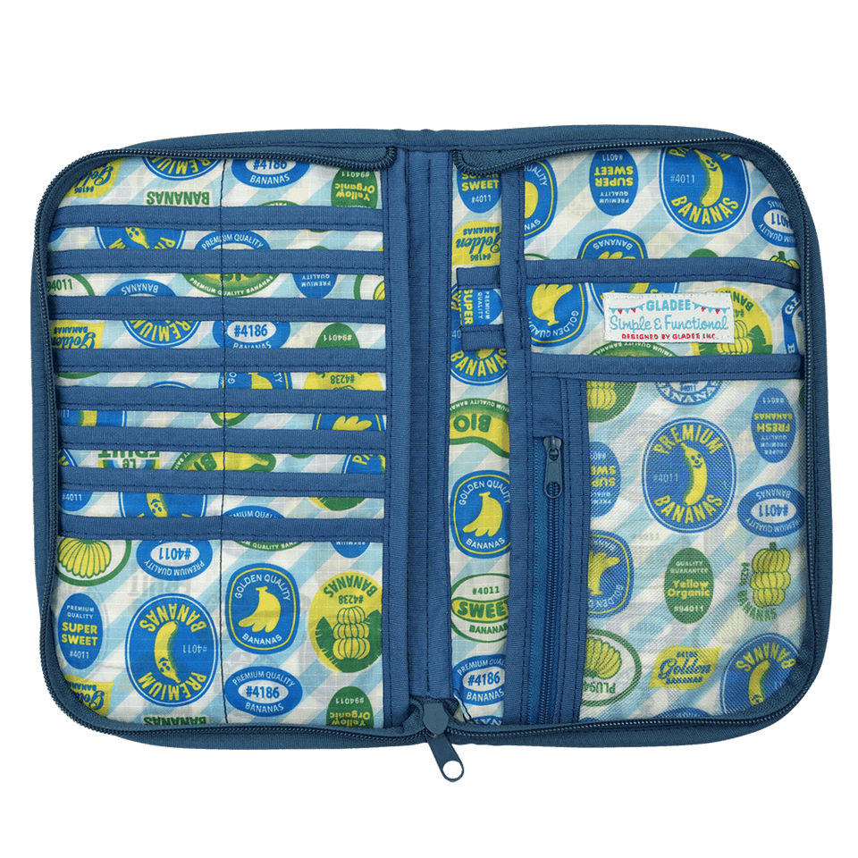 Multi Travel Organizer Card Case with Badge Banana