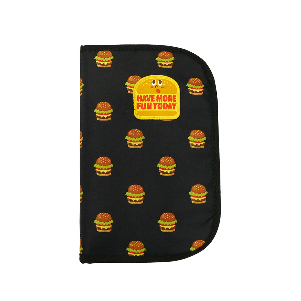 Multi Travel Organizer Card Case with Badge Hamburger