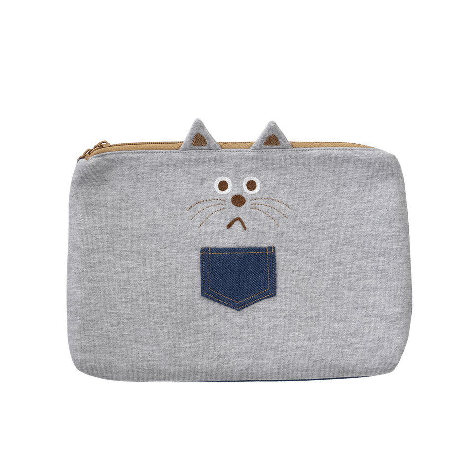 Flat Pouch Large Smooth Cat