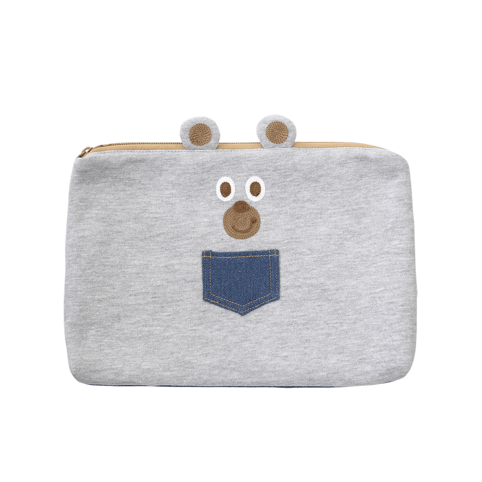 Flat Pouch Large Smooth Bear