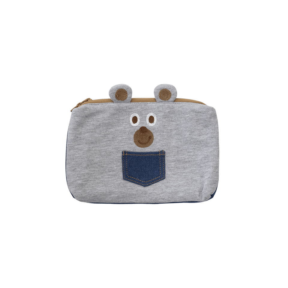 Flat Pouch /  Denim & Smooth Bear