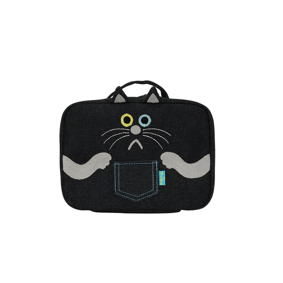 Multi Pouch / Cat Black Denim