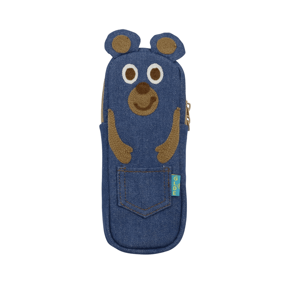Pencil Case / Denim Bear