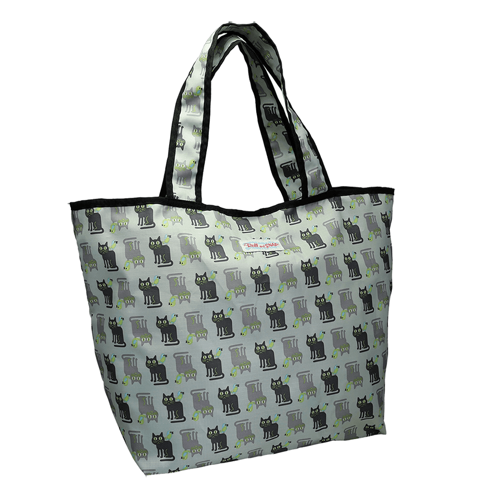 Roll & Snap Tote Bag / Cats & Birds