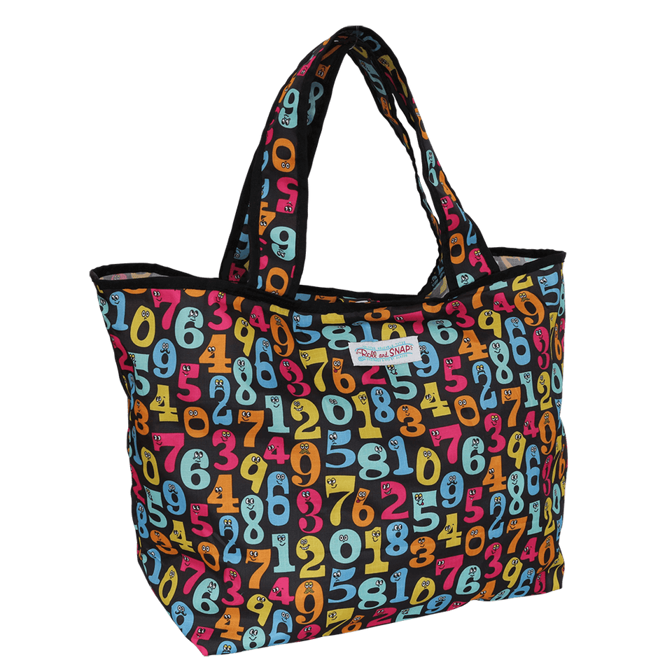 Roll & Snap Tote Bag / Numbers