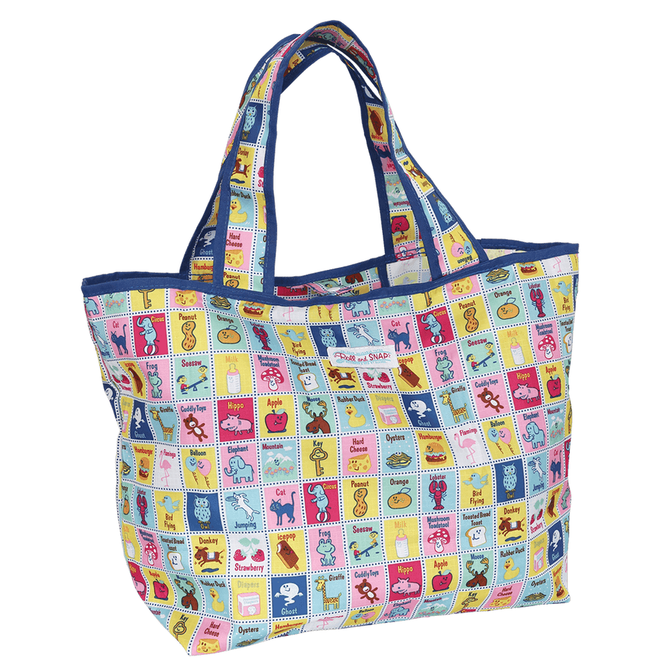 Roll & Snap Tote Bag / Stamps