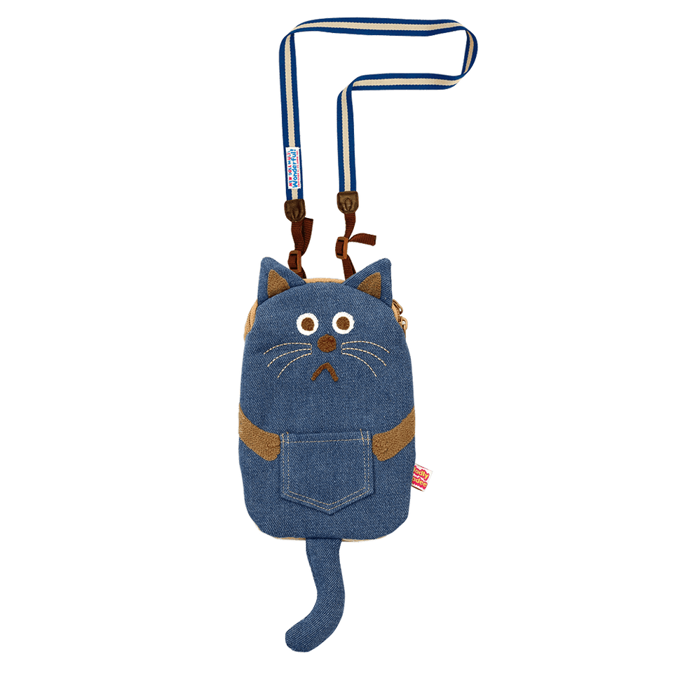 Smart Phone Case with Strap / Denim Cat (old models)