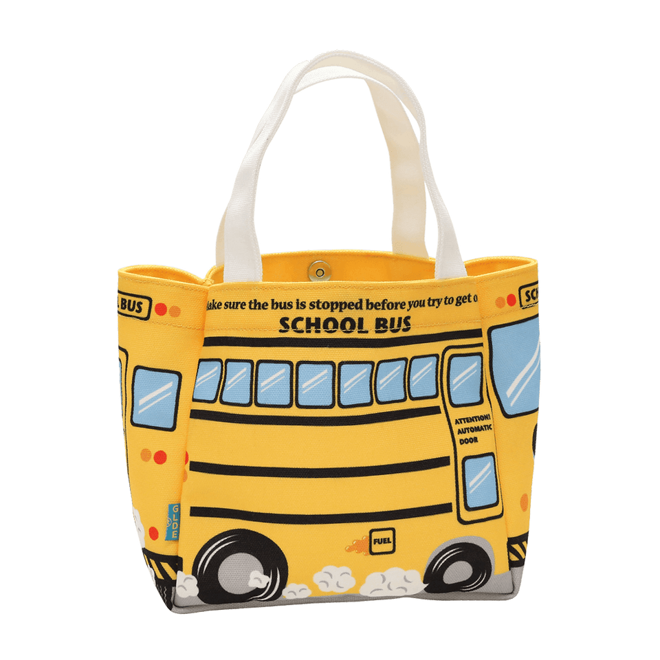 Canvas Mini Tote Bag / School Bus (Polyester)