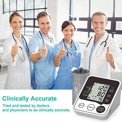 Blood Pressure Monitor  Accurate and Automatic Upper Arm BP Machine, Automatic Heart Rate Pulse Monitor, Digital Meter with Large Display