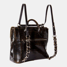 Luxury leather sustainable silk handbag crossbody backpack