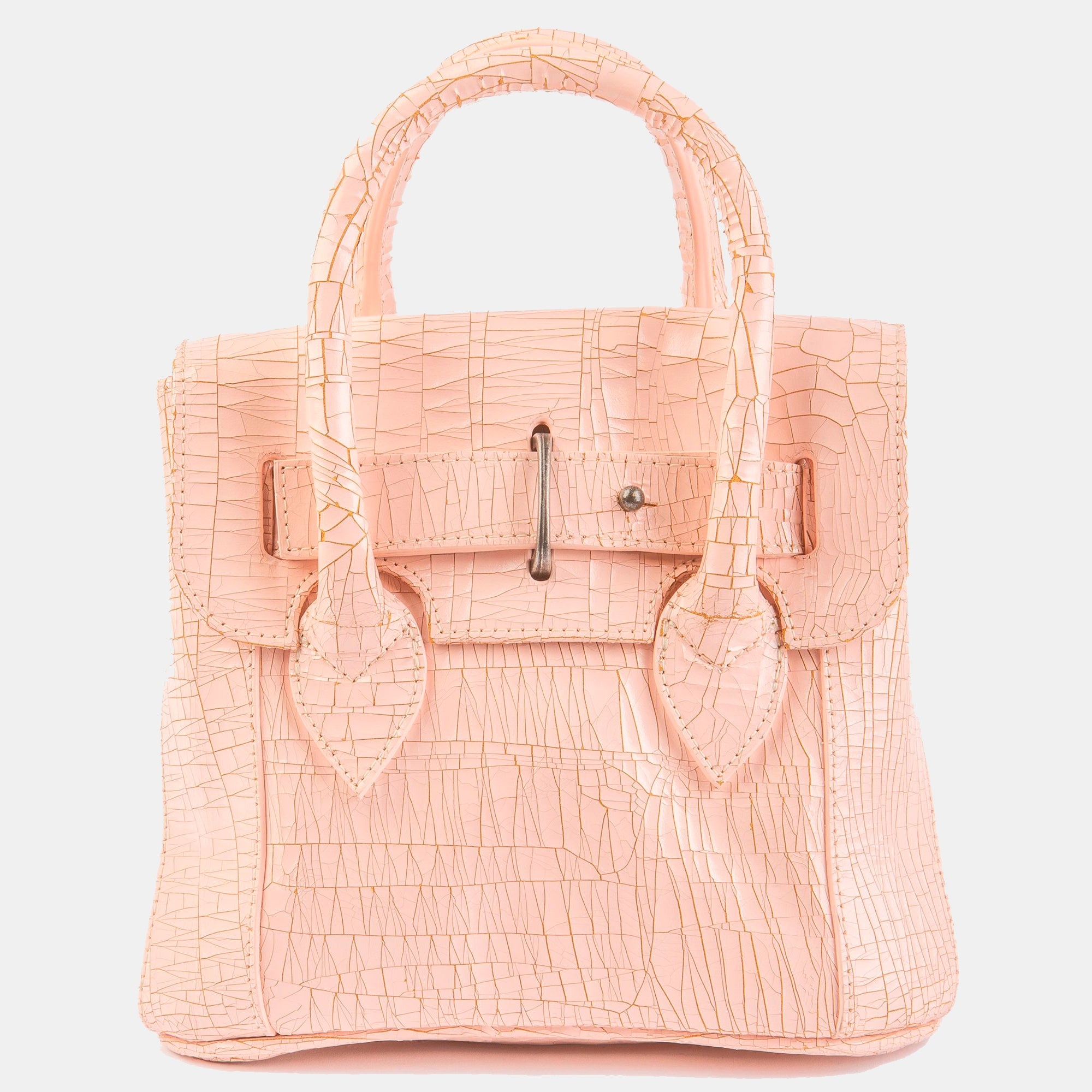 Luxury leather sustainable silk small handbag shoulder bag