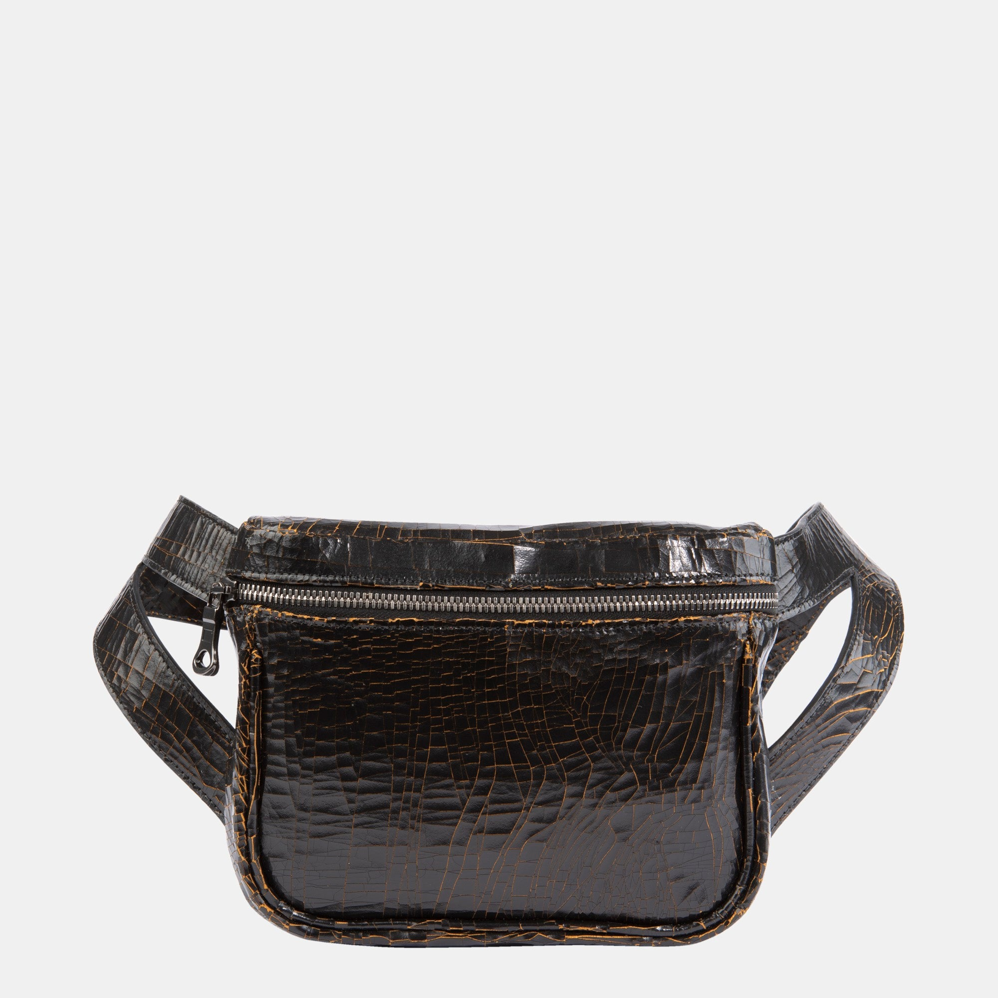 Luxury leather sustainable silk fanny pack belt bag crossbody