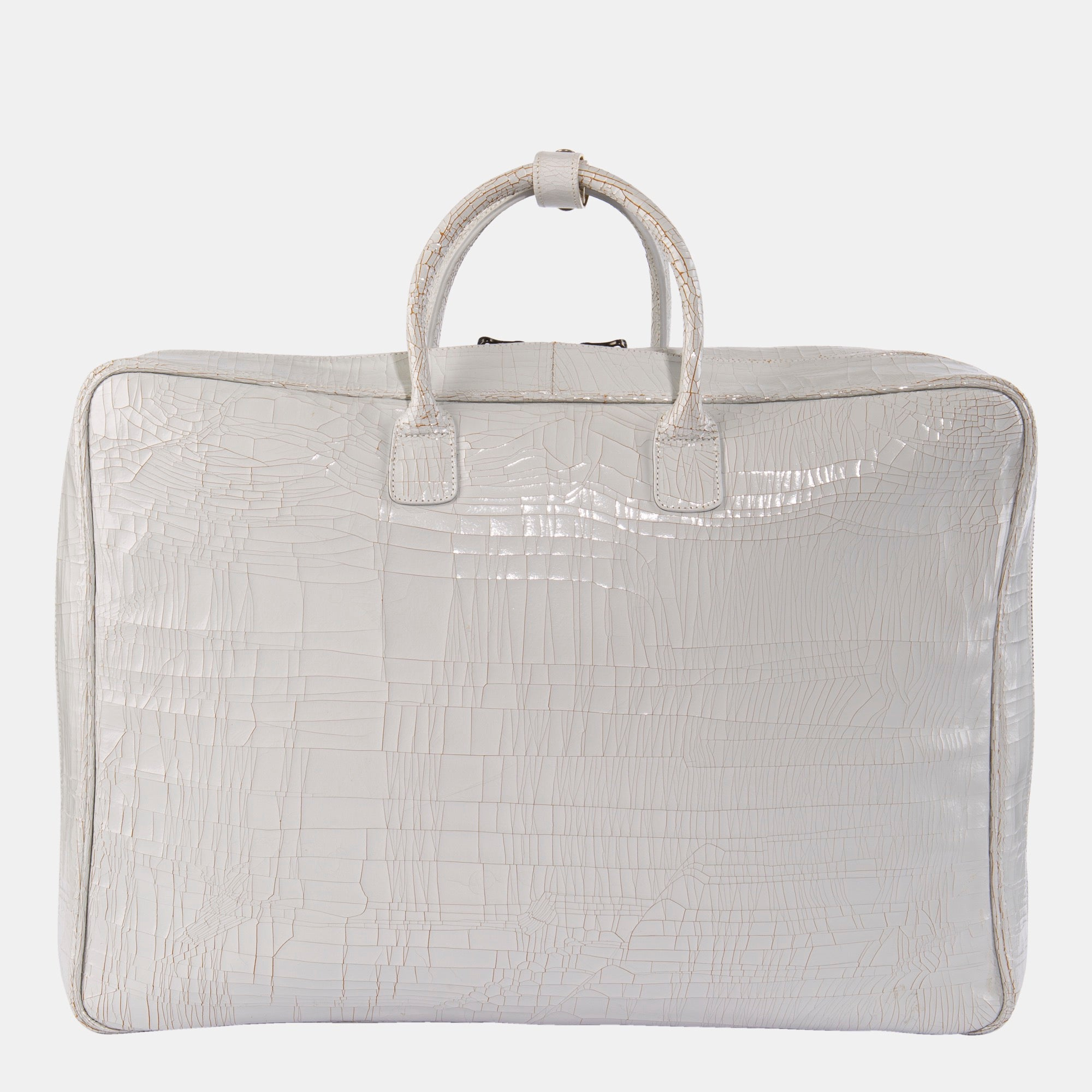 Luxury leather sustainable silk luggage carry-on carryall