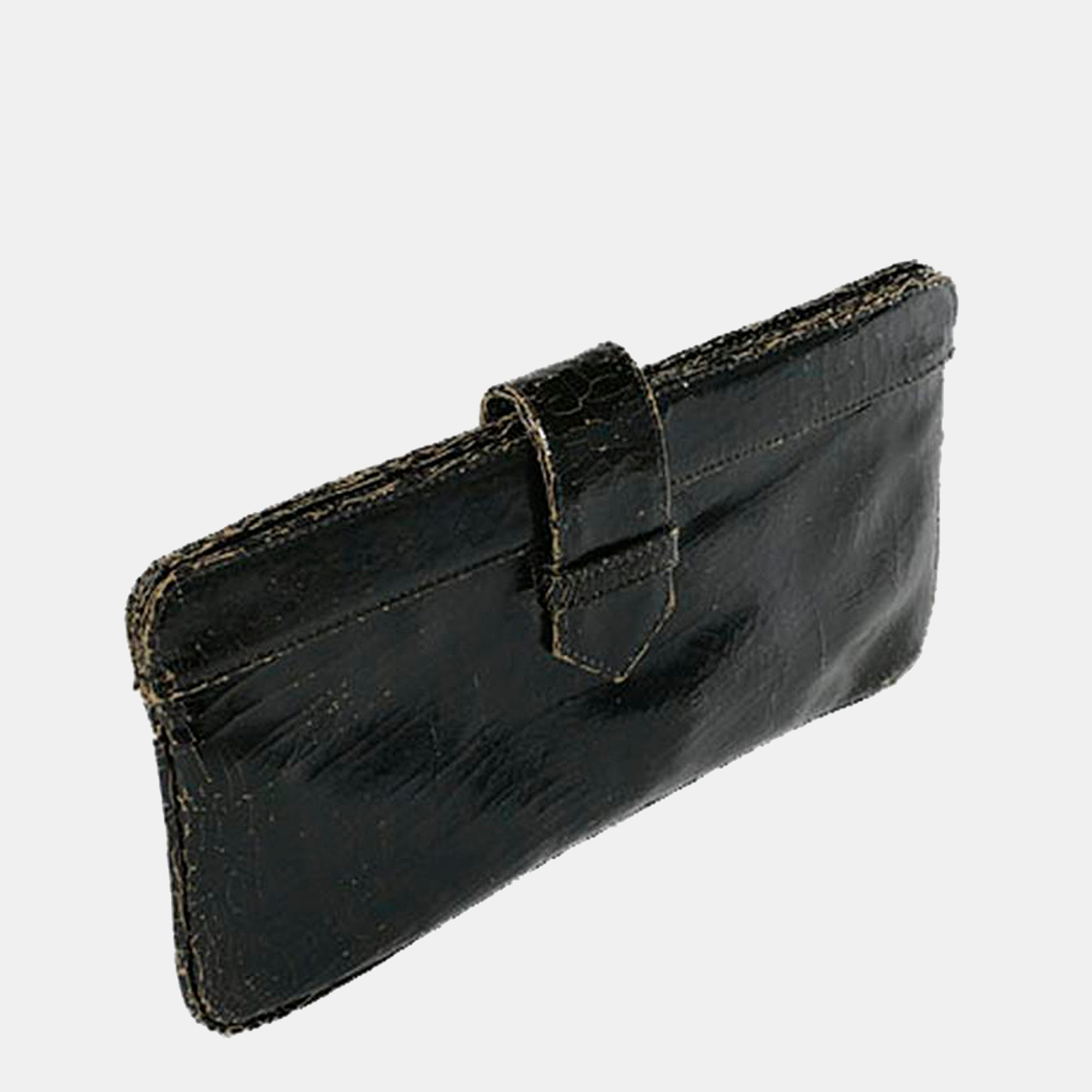 Luxury leather sustainable silk clutch handbag