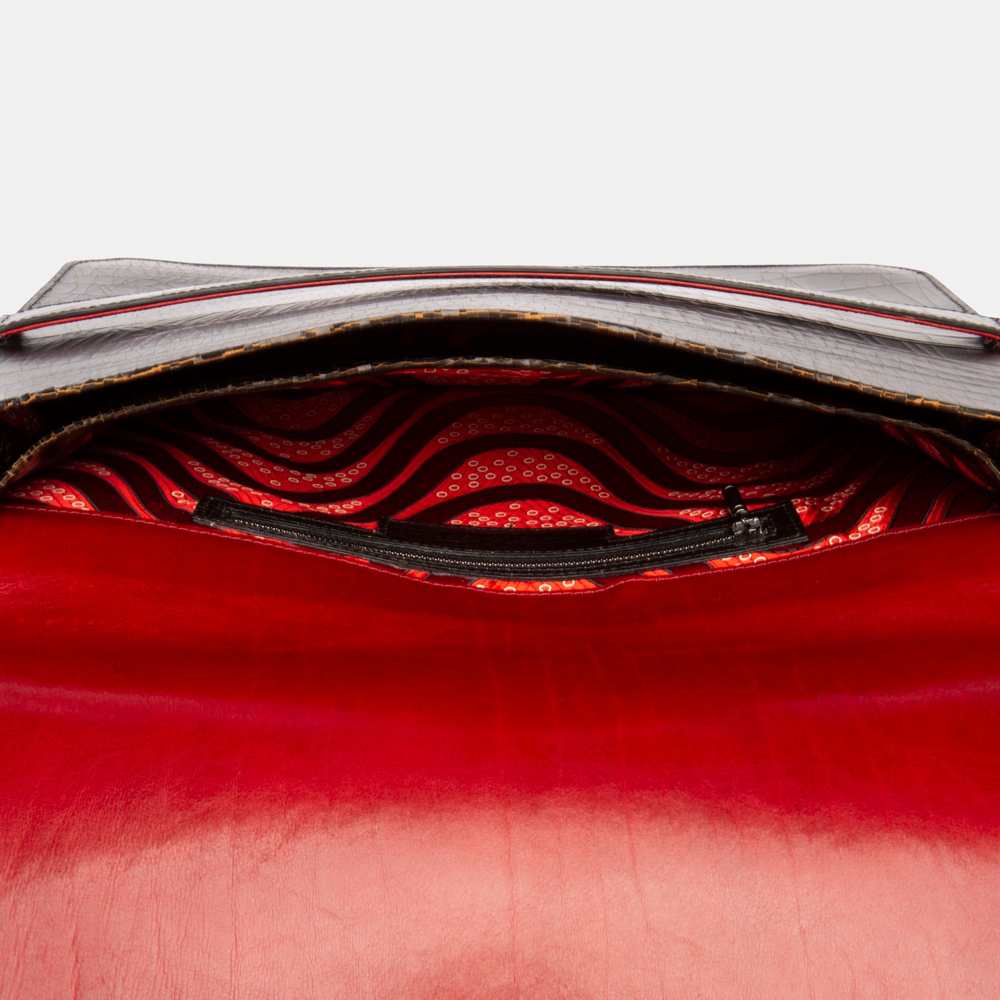 Luxury leather sustainable silk slim briefcase or laptop holder