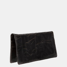 Luxury leather sustainable silk wallet passport