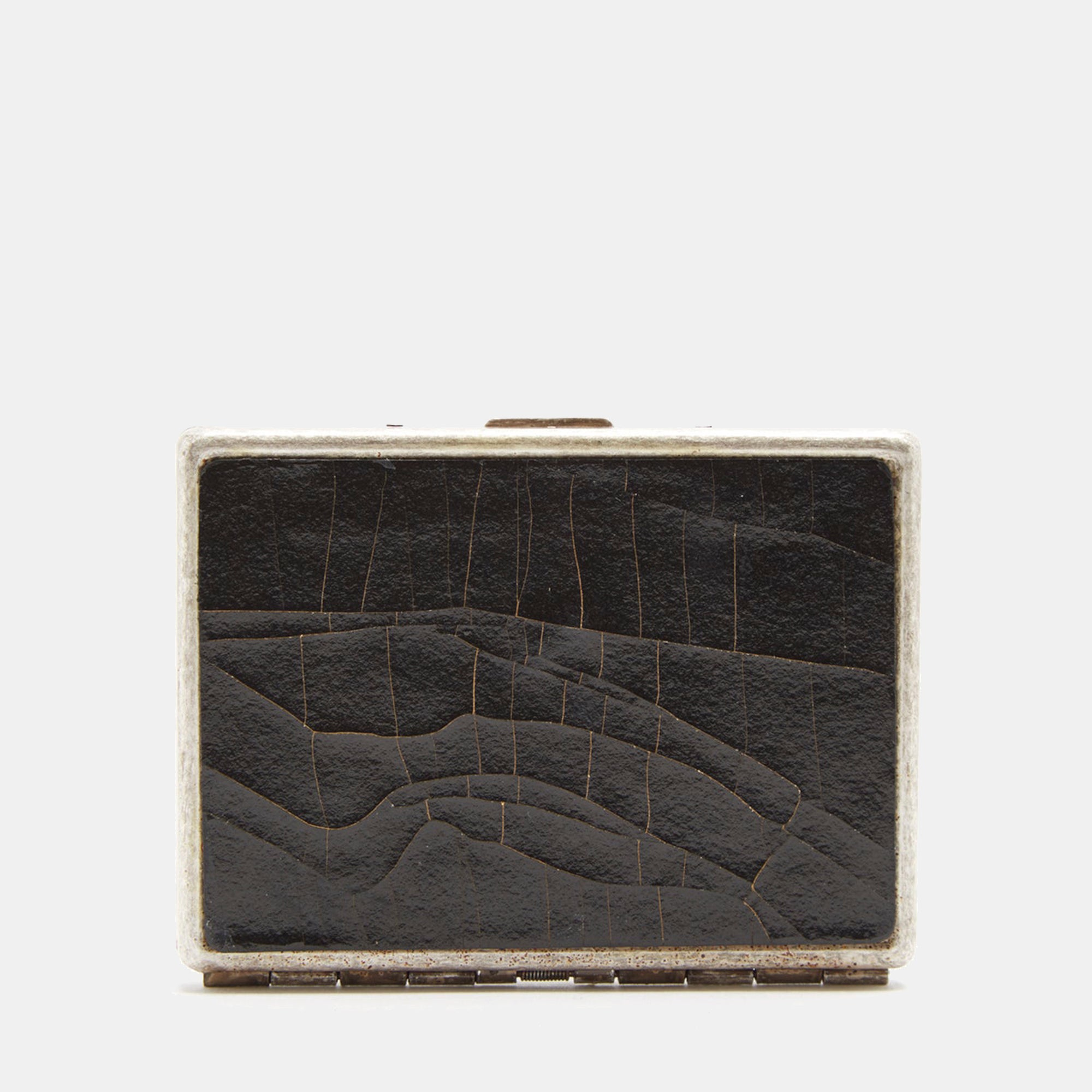 Luxury leather sustainable silk card case