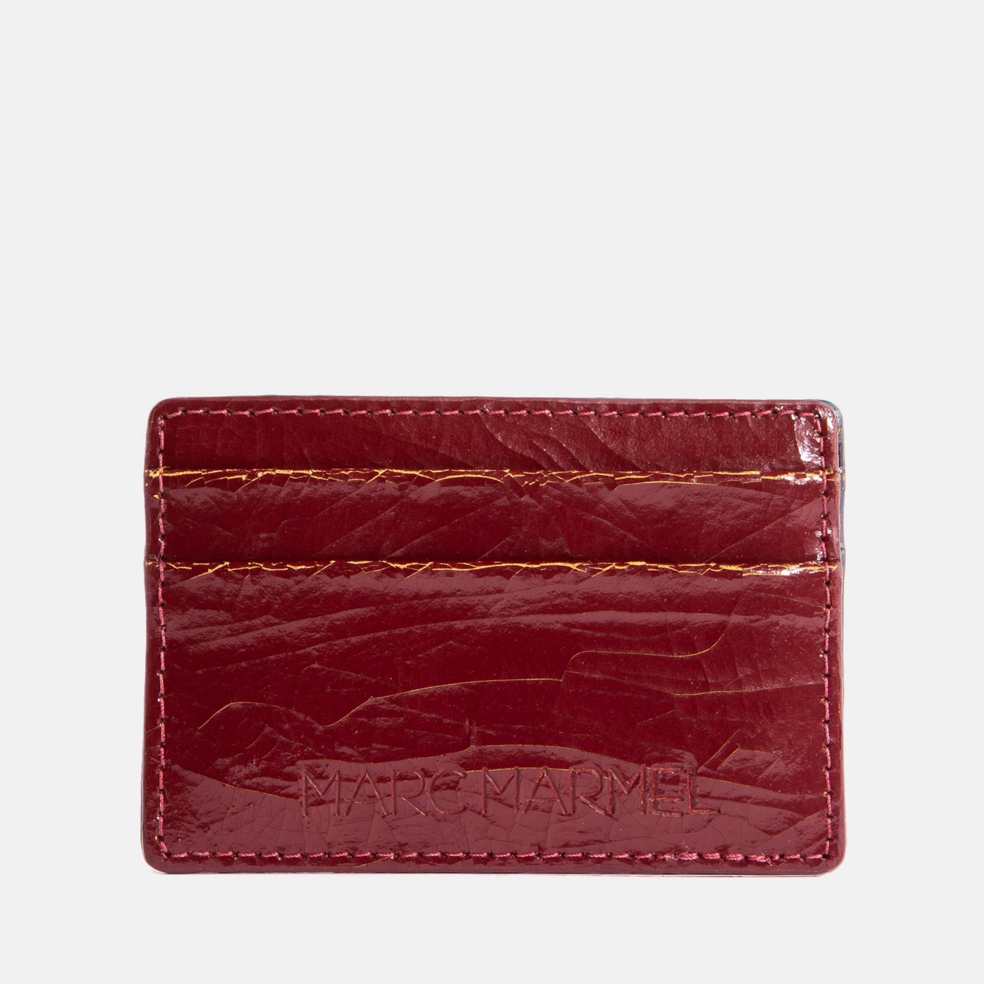 Luxury leather sustainable silk card sleeve