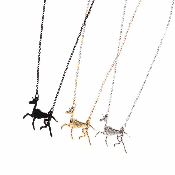 Unicorn Skeleton Necklace