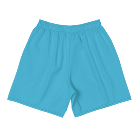 Scribble Logo Shorts Blue