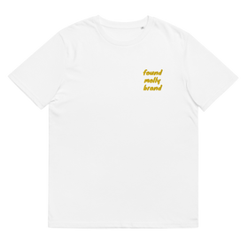 Embroided Logo Pocket Tee Gold