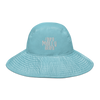 Distort Logo Wide brim bucket hat