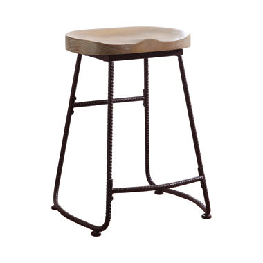 Wood and Iron Counter Stool