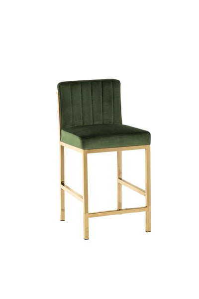 Gold and Green Counter Stool