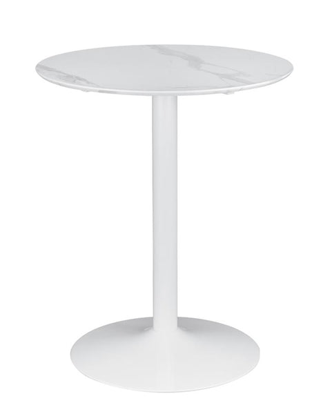 White Counter Height Table