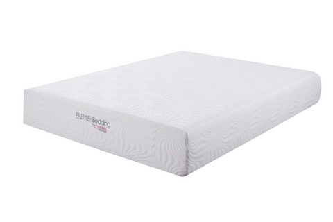 White 12-Inch Memory Foam Mattress, King