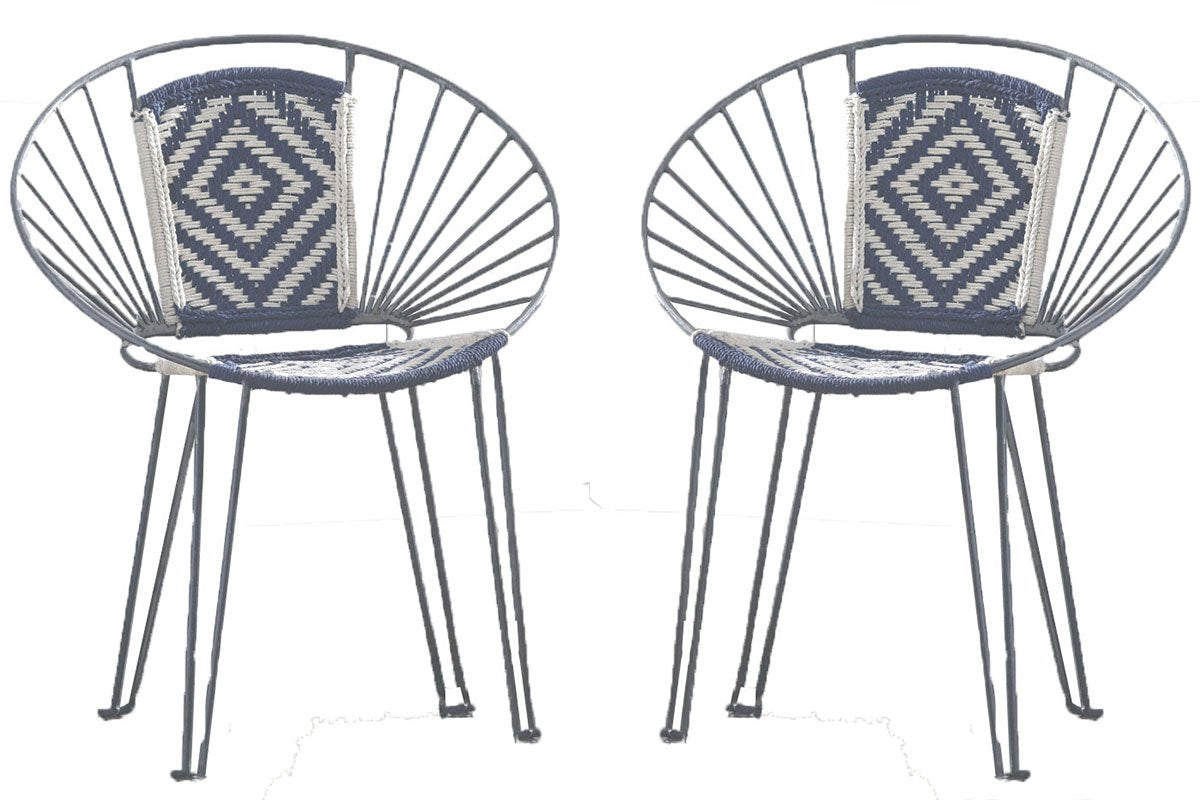 Set of two! Invite your friends for a chill night on your balcony or backyard :) These chairs look also fantastic indoors, for those windy Bay Area summer nights...