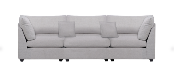 Cambria Sectional Grey Sofa  - 3 Pieces