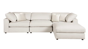 Sectional Sofa, Cream Linen -  4 pieces